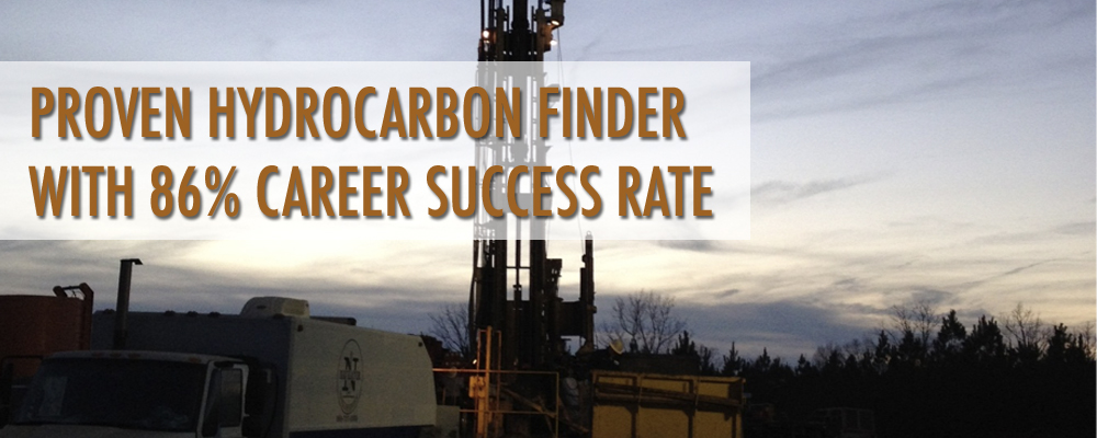 Proven hydrocarbon finder with 86% career success rate
